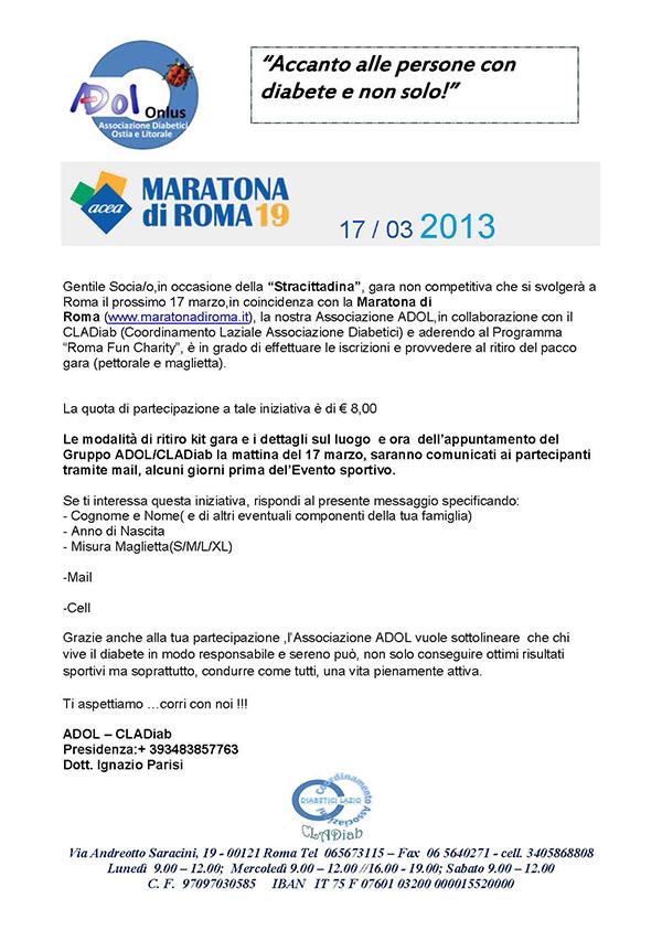 stracittadina - maratona di Roma